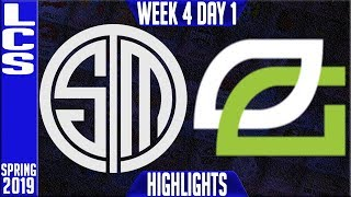 TSM vs OPT Highlights | LCS Spring 2019 Week 4 Day 1 | Team Solomid vs Optic Gaming