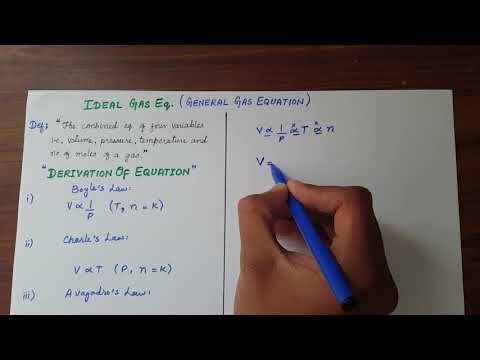 Ideal Gas Equation ( General Gas Equation) | Its Derivation ( PV = NRT ) & Numericals In Urdu/Hindi