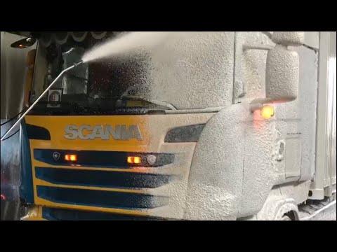 Blue & Yellow Scania Non Contact ProNano TruckWash! Toucheless Nano Shampoo & Nano Wax