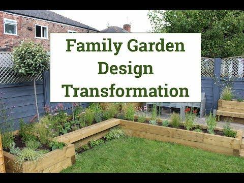 Family garden design transformation - YouTube