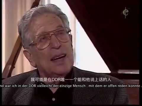 Kurt Sanderling Shostakovich 5 rehearsal, interview, in German