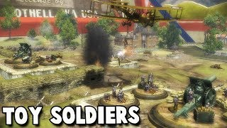 EPIC Trench Defense!  Toy Soldiers Battle Simulator Meets Tower Defense! (Toy Soldiers Gameplay)