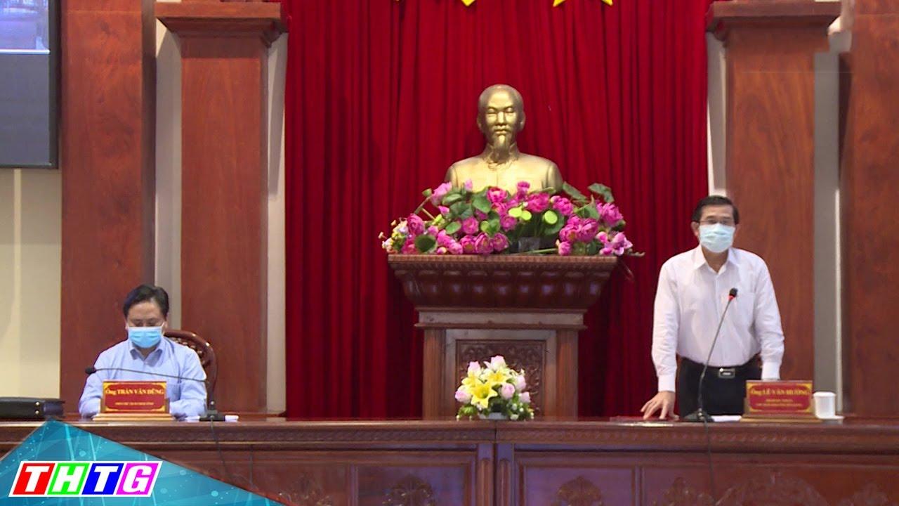 Tiền Giang : Hội nghị trực tuyến quán triệt chỉ thị 16 của chính phủ về phòng chống dịch covid-19