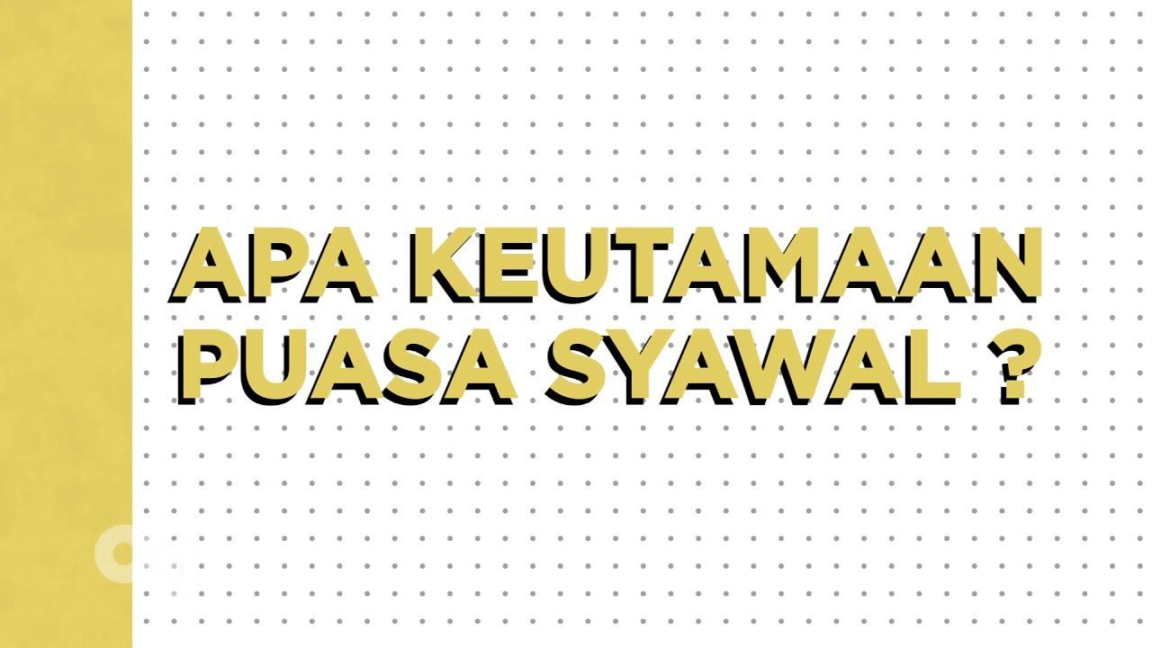 Keutamaan Puasa Syawal Kinetic Typography Youtube