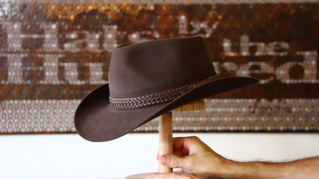Akubra Snowy River Rodeo Brown Hat Review- Hats By The Hundred - YouTube 6a6d44b4091