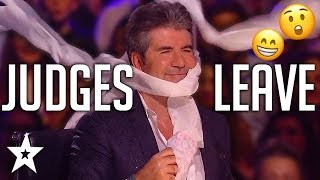 ANGRY AUDITIONS | When JUDGES LEAVE On Got Talent! | Got Talent Global