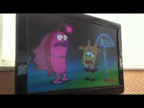 Spongebob misses the bus.