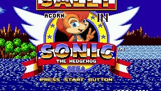 Sally Acorn in Sonic the Hedgehog - Sally Acorn in Sonic the Hedgehog[full hack] - User video