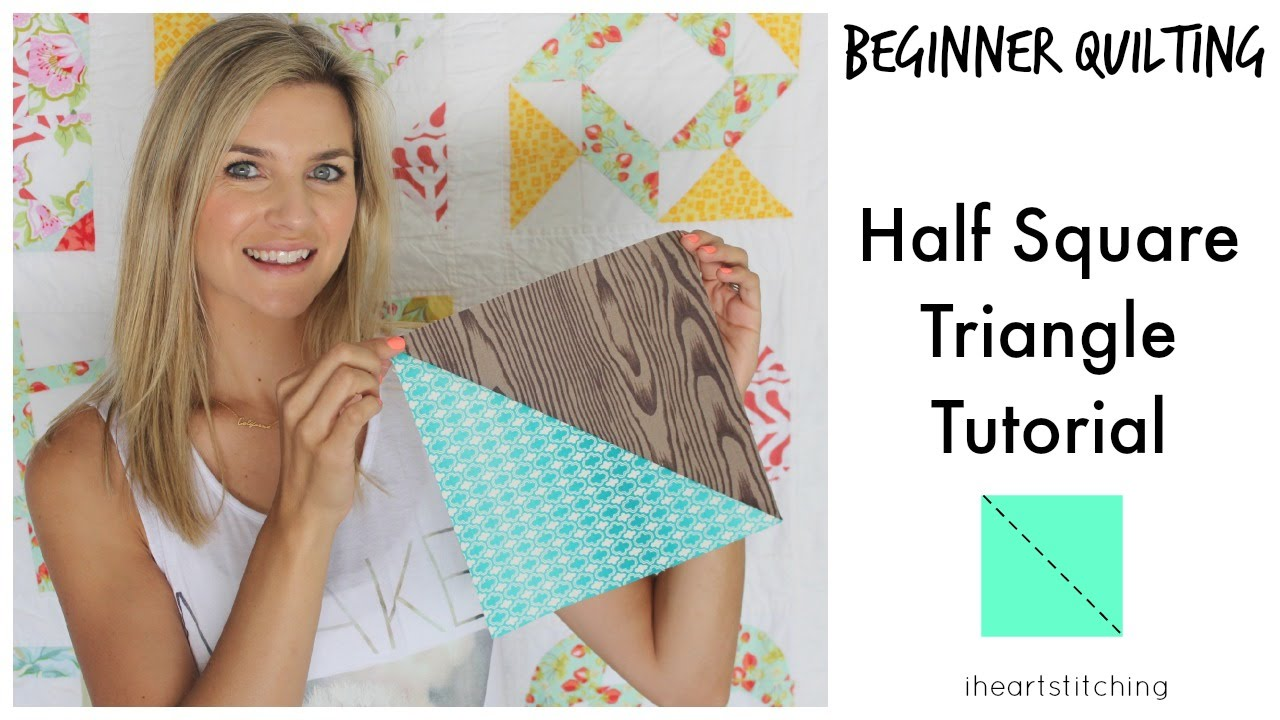 Beginner Quilting Half Square Triangle Tutorial Youtube