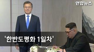 شاهد.. كيم جونج أون يتفقد حرس الشرف لكوريا الجنوبية مع بدء القمة