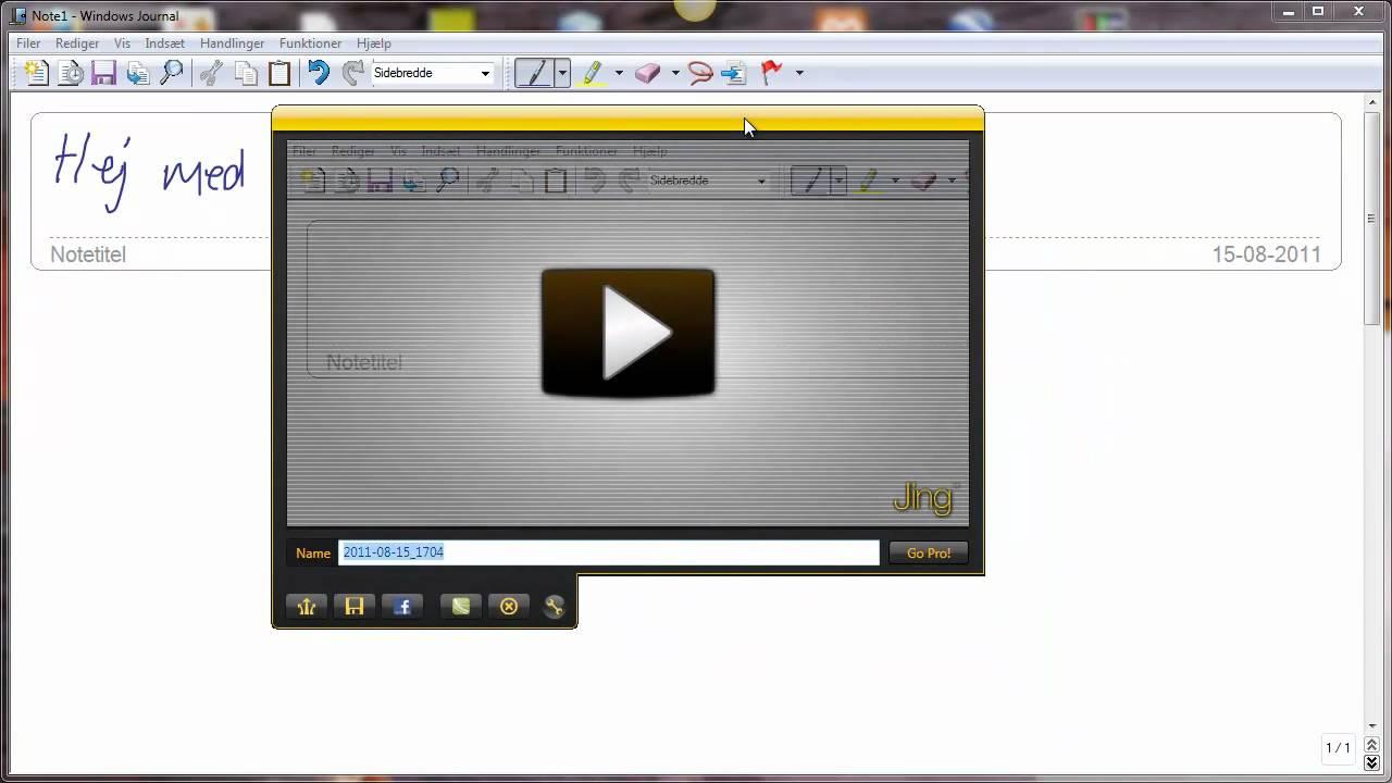 Skærmvideo om skærmvideooptageren Jing