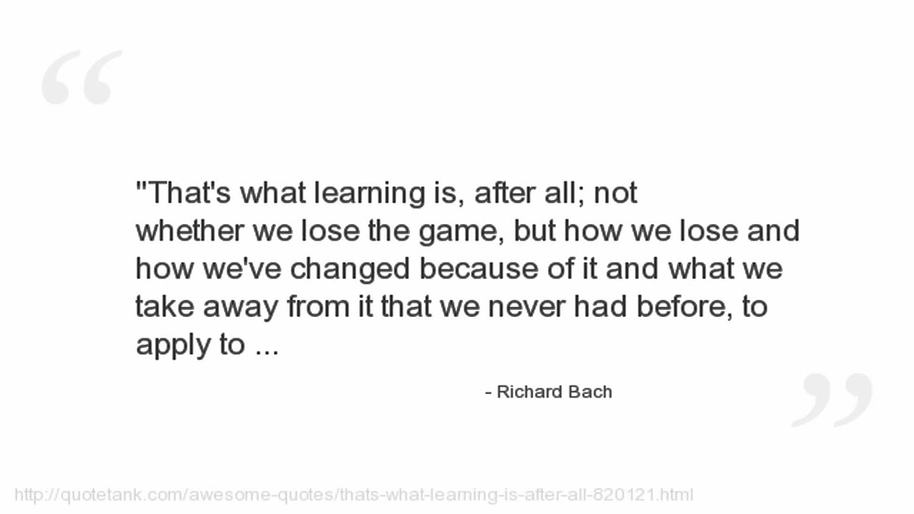 Richard Bach Quote About Cange: Richard Bach Quotes