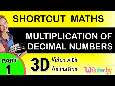 Multiplication of decimal Numbers maths class 1,2,3,4,5,6,7 tricks shortcuts online video puzzles