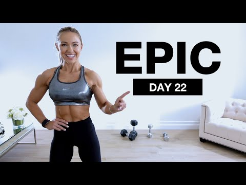 Day 22 of EPIC | Dumbbell Shoulders & Core Workout [Supersets]