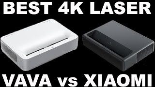 100 inch Home Theater Setup with just 8 inches | VAVA Laser 4K UST Projector Comparison vs Xiaomi 4k