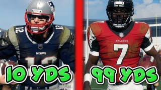 Can Michael Vick Get A 99 Yard Touchdown Run Before Tom Brady Can Get A 10 Yard Run? Madden 18