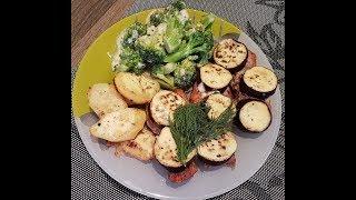 Запеченная свинина с брокколи/Baked pork with broccoli