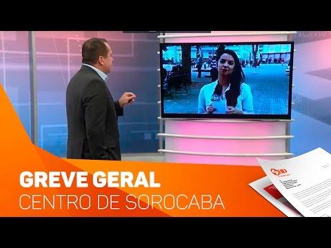 Greve Geral Informações do Centro de Sorocaba - TV SOROCABA/SBT