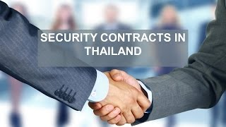 Security contracts in Thailand: suretyship, mortgage and pledge