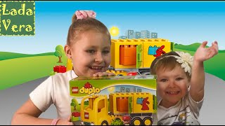 видео Лего желтый грузовик (Lego Duplo)