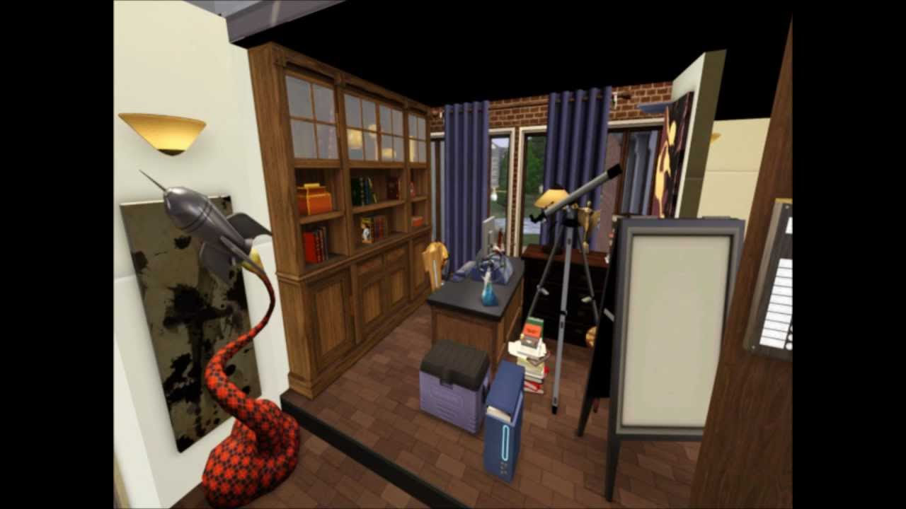 The sims 3 the big bang theory 4 0 mrhdart youtube for Banging house music