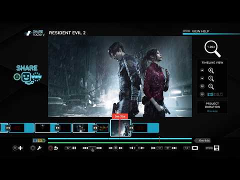 Resident Evil 2 Sharefactory Theme PS4
