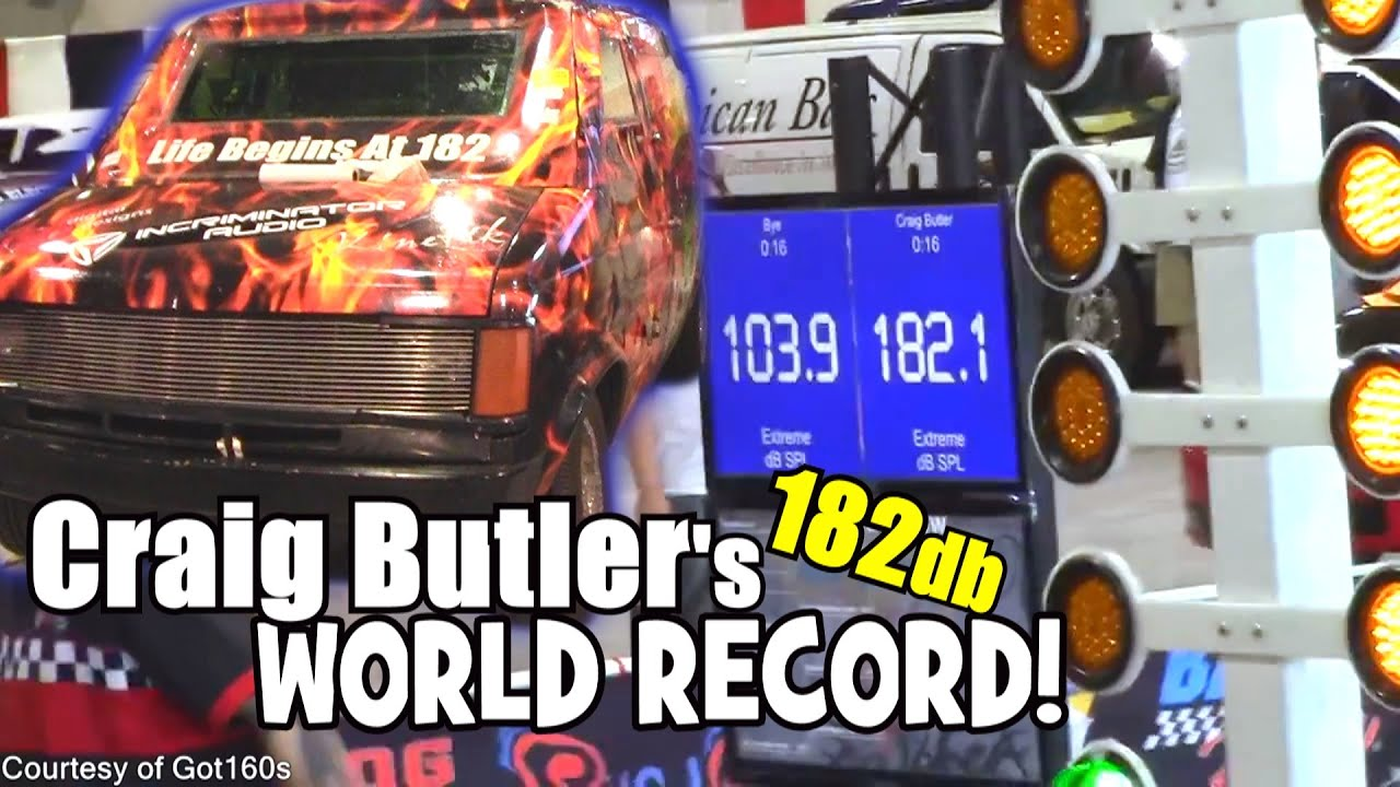World record bass system hitting 182db craig butler s loudest spl 4 18 subwoofers ia80 1 amps youtube