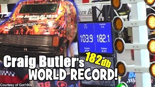 World Record BASS System Hitting 182db | Craig Butler's Loudest SPL / 4 18