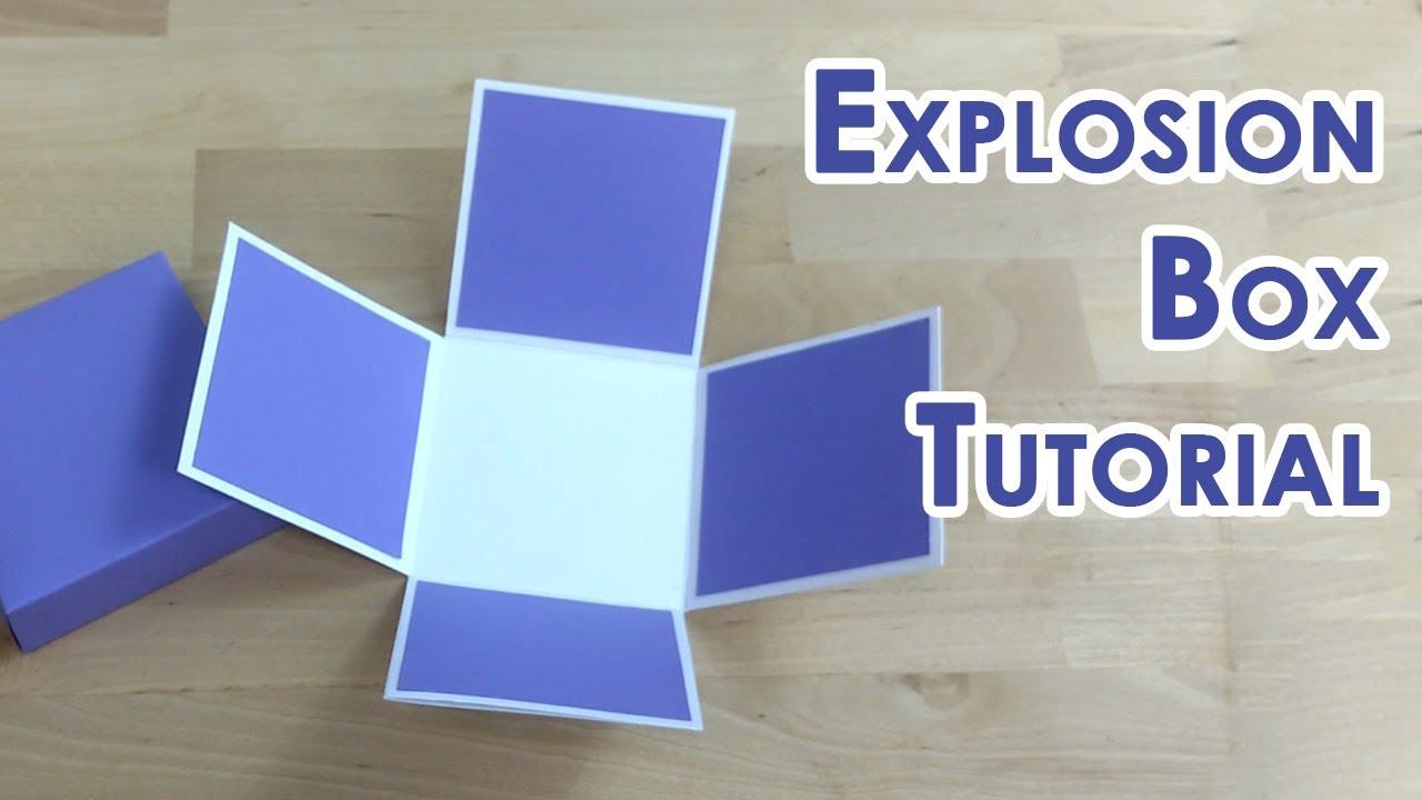 tutorial template tealight cake explosion box youtube