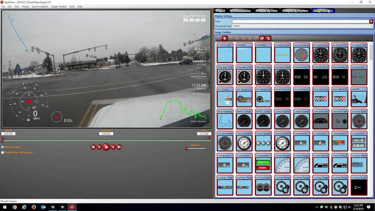 Dashware 1 9 1 with GoPro Hero 5 GPS Data