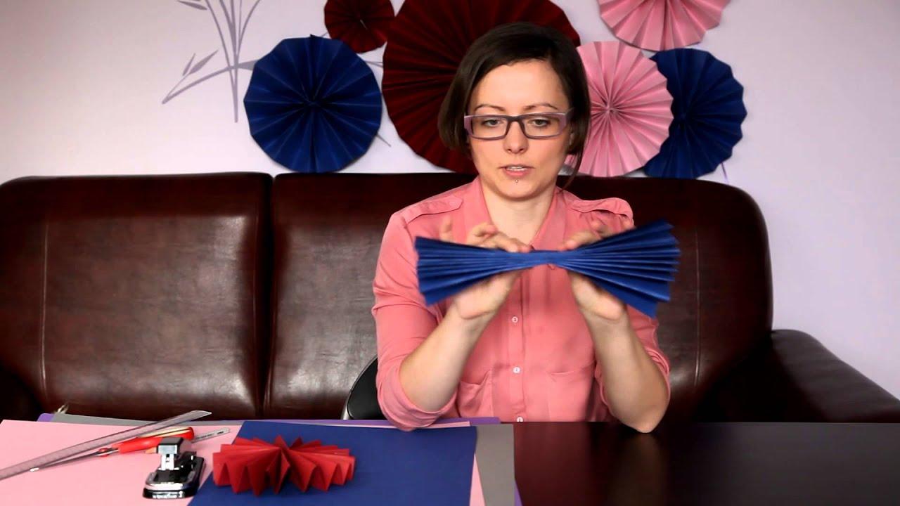Jak zrobić rozety z papieru - papierowe dekoracje ślubne