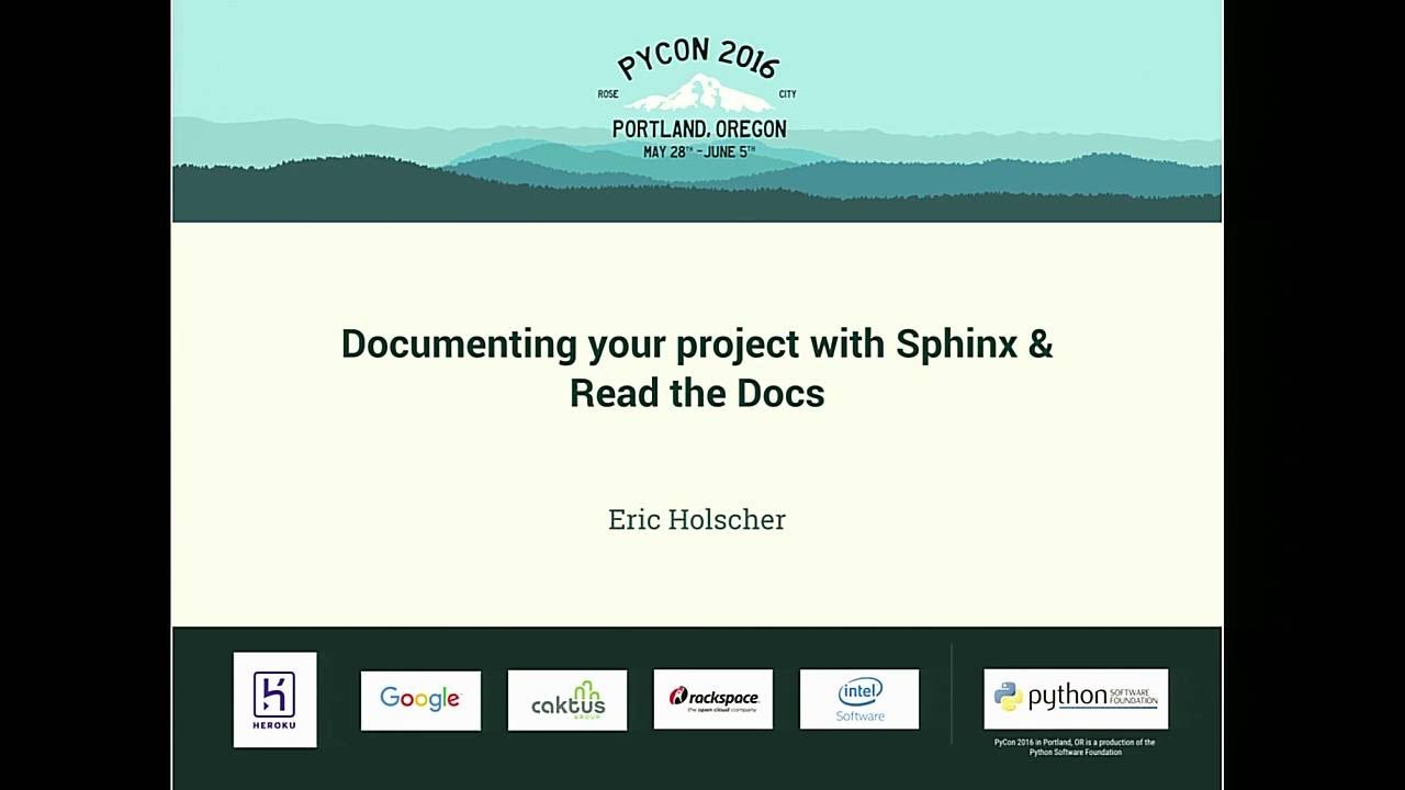 Image from Documenting your project with Sphinx & Read the Docs