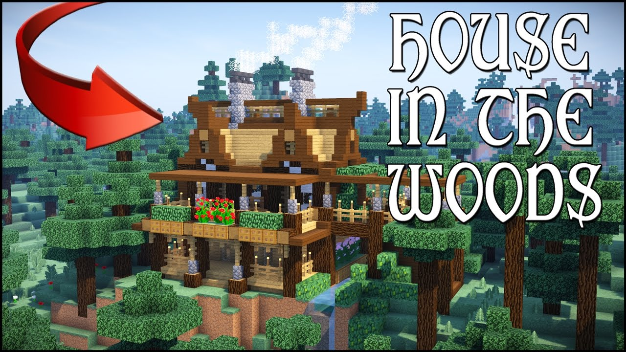 Minecraft house in the woods how to make a wooden for How to build a house in a mountain