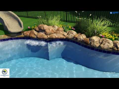 Pool Contractors Dallas | Swimming Pool with Outdoor Kitchen