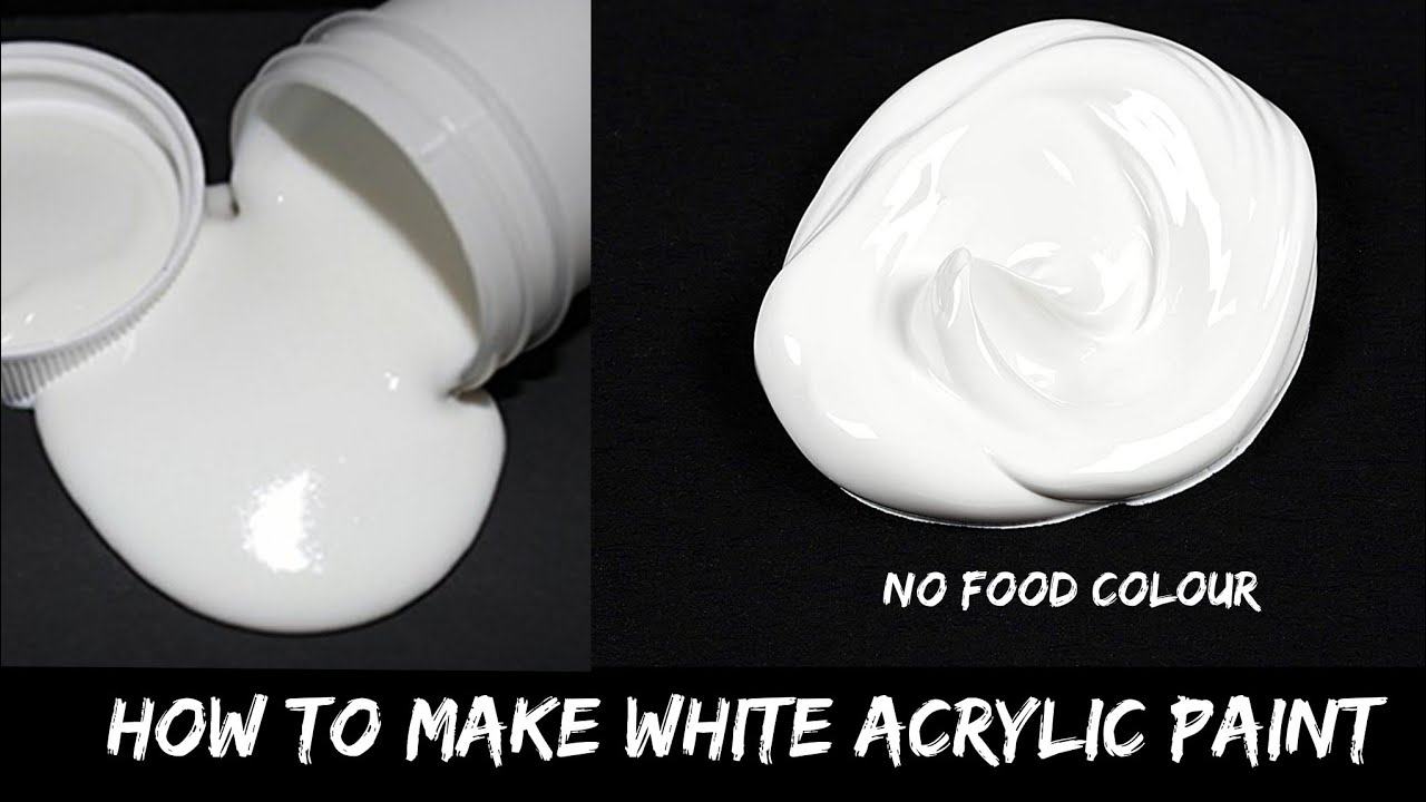 Homemade White Acrylic Paint Ll How To Make White Acrylic Paint At Home Without Food Color Youtube