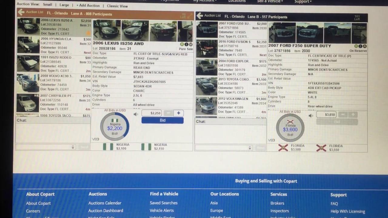 Nigerians bidding on USA online car auction - YouTube