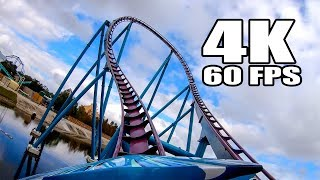 Mako Hyper Roller Coaster AWESOME 4K 60FPS Front Seat View SeaWorld Orlando