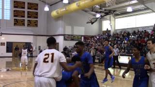 Dover G Jordan Allen puts a nasty spin move on his defender