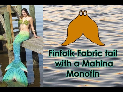 FINFOLK FABRIC TAIL with a MAHINA Monofin