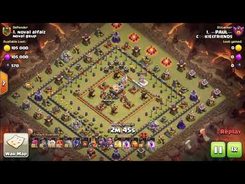 Town Hall 11 attack strategy on box type bases