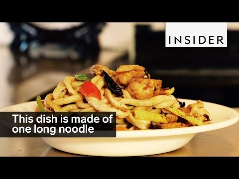 This noodle dish is made of one long noodle