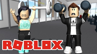 LUCAS was to the GYM! -Roblox (Fitness Center)