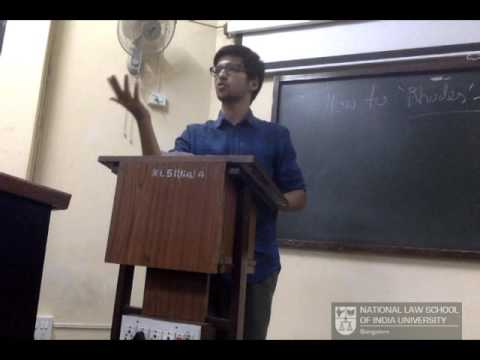 How to Rhodes? - Vanshaj Jain (Rhodes Scholar, 2017) NLSIU, Bangalore