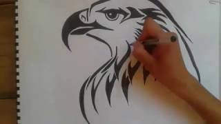 how to draw eagle tattoo...ùvdr, vsl ksv ...draw eagle