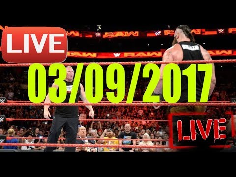 WWE RAW 03/09/2017 Brock Lesnar vs Broun Strowman vs John Cena vs Roman Reigns WWE September 03/2017