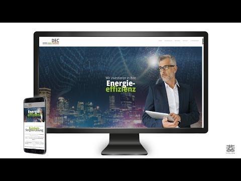 Webseite für die Deutsche Energie Contracting GmbH