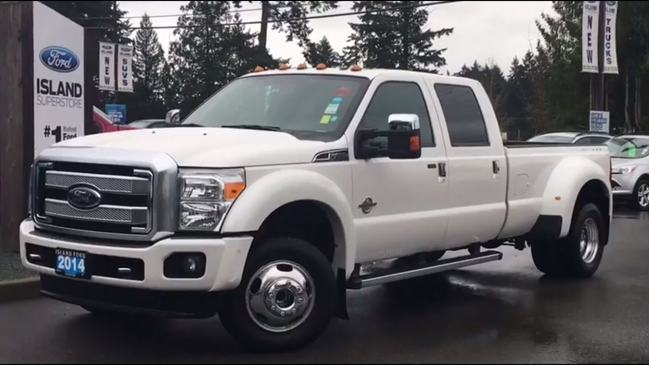 2014 Ford Super Duty F 450 Drw Platinum One Owner