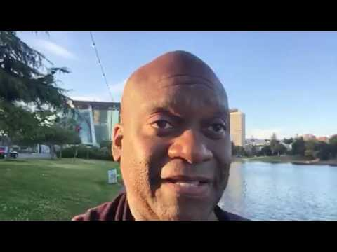Walking Around Lake Merritt Oakland During NBA Finals