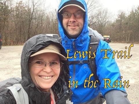 Rainy Hike on the Lewis Trail