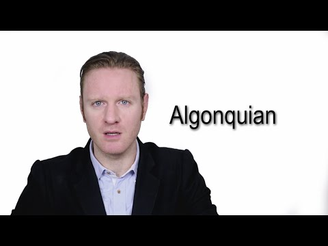 Algonquian - Meaning | Pronunciation || Word Wor(l)d - Audio Video Dictionary